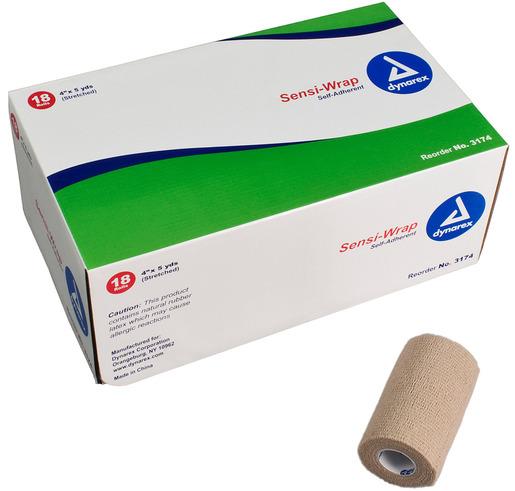 Dynarex<sup>®</sup> Sensi-Wrap Self-adherent Bandage Rolls, Tan