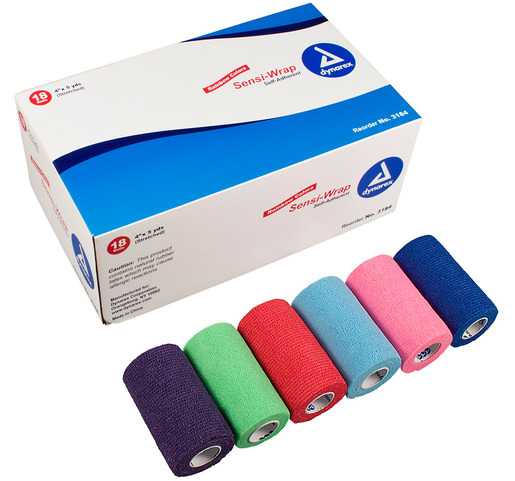 Dynarex<sup>®</sup> Sensi-Wrap Self-adherent Bandage Rolls, Rainbow