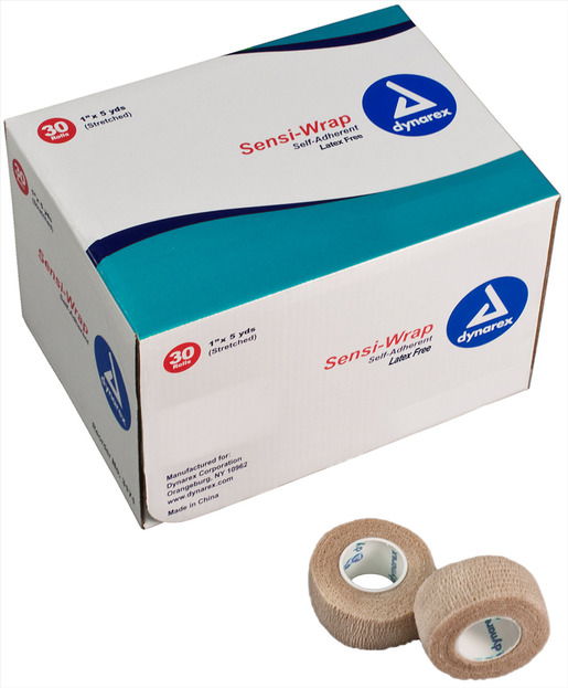 Dynarex<sup>®</sup> Sensi-Wrap Self-adherent Bandage Rolls, Latex-free, Tan