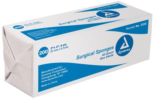 Dynarex<sup>®</sup> Surgical Gauze Sponges, Non-sterile