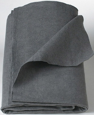 "Curaplex<sup>®</sup> Gray Polyester Blanket, 40"" x 80"""