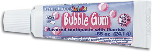 OraLine Kids Bubblegum Fluoride Toothpaste, 0.85oz