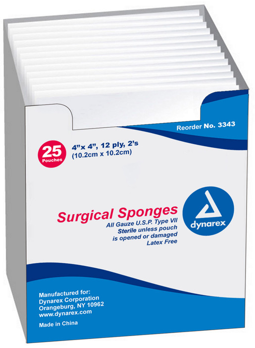 Dynarex<sup>®</sup> Gauze Sponge, Sterile