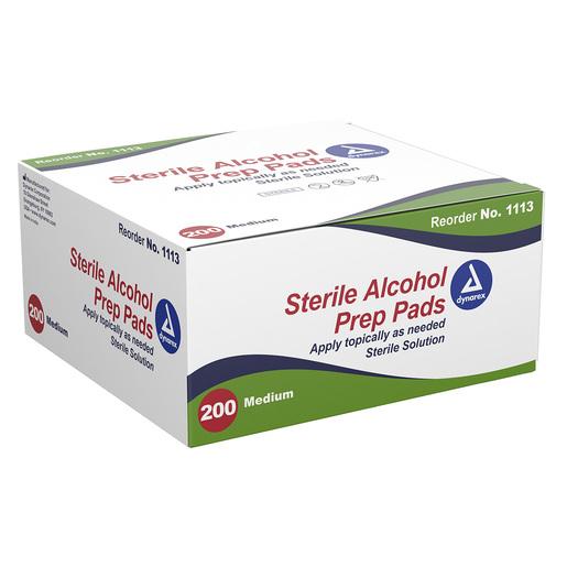 Dynarex<sup>®</sup> Alcohol Prep Pads, Sterile, Medium, 200/box