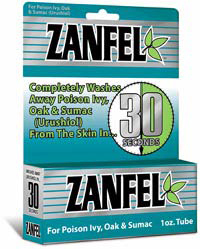 Zanfel<sup>™</sup> Wash for Poison Ivy, Oak and Sumac, 1oz Tube