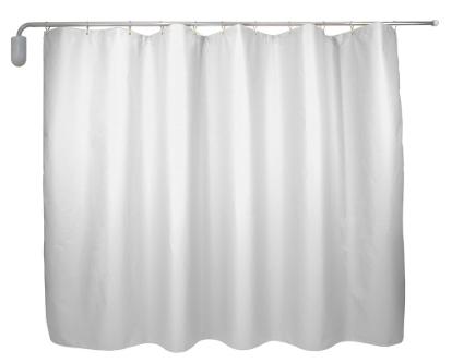 Wall-mounted Telescopic White Curtain