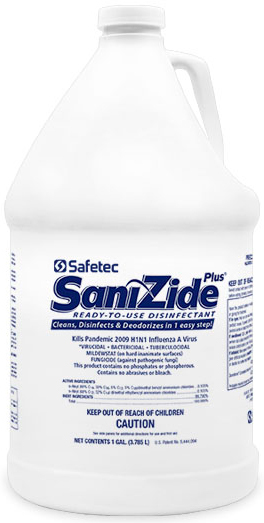 Safetec SaniZide Plus<sup>®</sup> Surface Disinfectant, 1gal Bottle