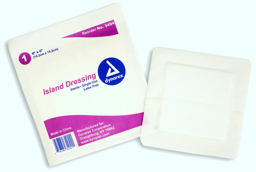 Dynarex<sup>®</sup> Island Dressing, Latex-free, Sterile