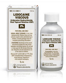 Lidocaine Viscous Solution, 2%, 100mL Bottle