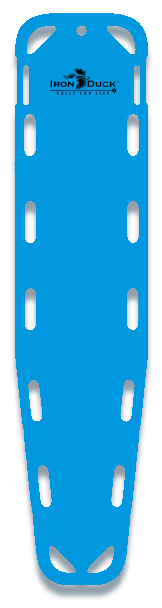 Iron Duck Base Board Spineboard with 10 Pins, Blue