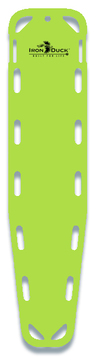 Iron Duck Base Board Spineboard with 10 Pins, Lime Green