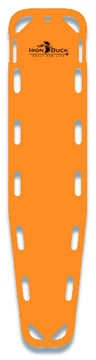Iron Duck Base Board Spineboard with 10 Pins, Orange