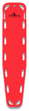 Iron Duck Base Board Spineboard with 10 Pins, Red