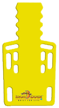 Iron Duck Ultra Short Backboard with Pins, Yellow