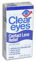 Clear Eyes Contact Lens Relief Drops, .5oz