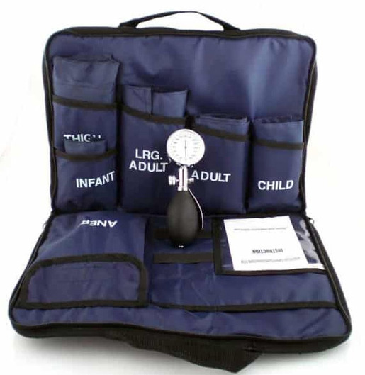 Curaplex<sup>®</sup> Blood Pressure Medic Kit, 3 Cuffs, Blue