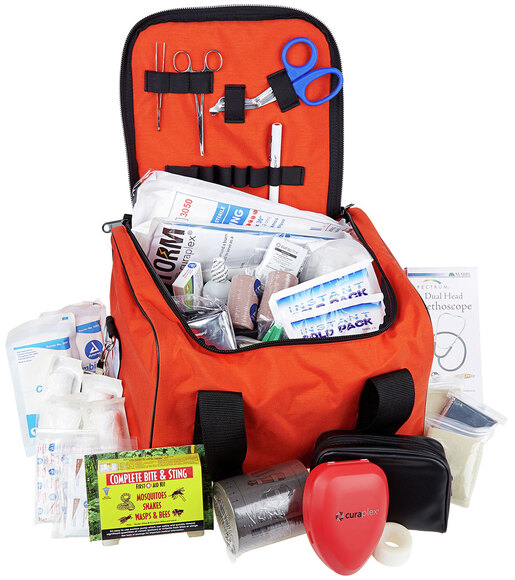 Curaplex<sup>&reg;</sup> Med-E-Pak II First Aid Kit with Orange Bag