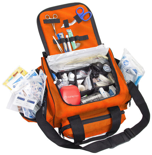 Curaplex<sup>&reg;</sup> Med-E-Pak III First Aid Kit with Orange Bag