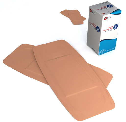 Dynarex<sup>&reg;</sup> Flexible Fabric Adhesive Bandages, Latex-free, Sterile, 2&rdquo; x 4 1/2&rdquo;, X-Large