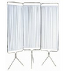 Three-section White Folding Privacy Screen