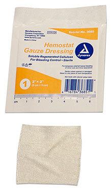 Dynarex<sup>®</sup> Hemostat Gauze Dressing, Sterile, 2&rdquo; x 2&rdquo;, 20/box