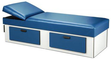 Clinton Upholstered Apron Couches with Double-drawer Storage