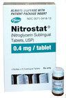 Nitrostat<sup>®</sup>, Nitroglycerin Sublingual Tablets, USP, 0.4mg, 25/bottle