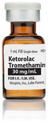 Ketorolac Tromethamine Injection, USP, 30mg/mL, 1mL Vial