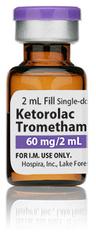 Ketorolac Tromethamine Injection, USP, 30mg/mL, 2mL Vial