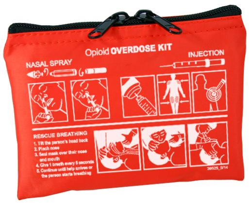 Iron Duck Bag for Community Outreach Opioid Overdose Kit, Orange