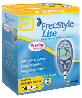 Abbott FreeStyle Lite<sup>®</sup> Blood Glucose Meter Monitoring System