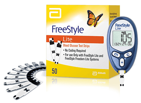 Abbott FreeStyle Lite<sup>®</sup> Blood Glucose Test Strips