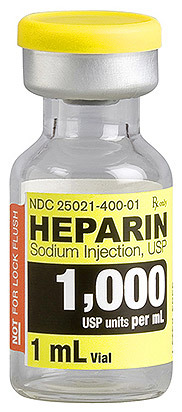 Heparin Sodium Injection, USP, 1000 Units/mL, 1mL Vial