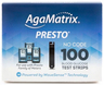 AgaMatrix Presto Blood Glucose Test Strips, 100/box