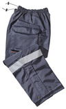Gerber 911 Rain Pants, Navy with Silver Trim, Large, Long