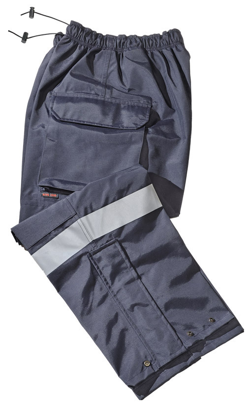 Gerber 911 Rain Pants, Navy with Silver Trim, X-Large, Long