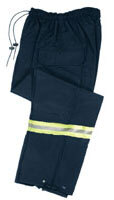 Gerber 911 Rain Pants, Navy with Lime and Silver Trim