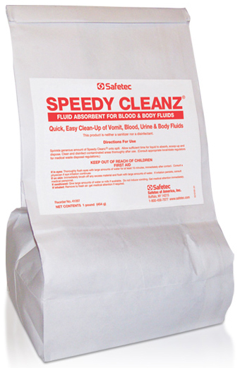 Safetec<sup>®</sup> Speedy Cleanz<sup>®</sup> Fluid Absorbent, 1lb Poly Bag