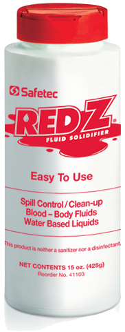 Safetec Red Z<sup>®</sup> Spill Control Solidifier, 15oz Shaker