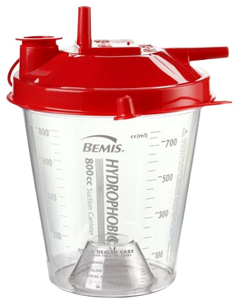 Bemis System II Disposable Suction Canister, 800cc