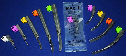 Hartwell Briteview<sup>®</sup> Laryngoscope Blade, MacIntosh, Size 1, Infant