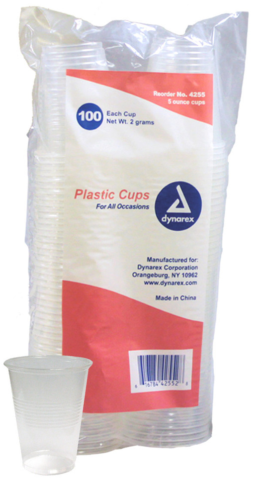 Dynarex<sup>®</sup> Plastic Drinking Cups, 5oz