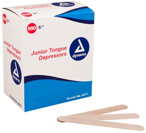 Dynarex<sup>®</sup> Tongue Depressors, Non-sterile, Junior