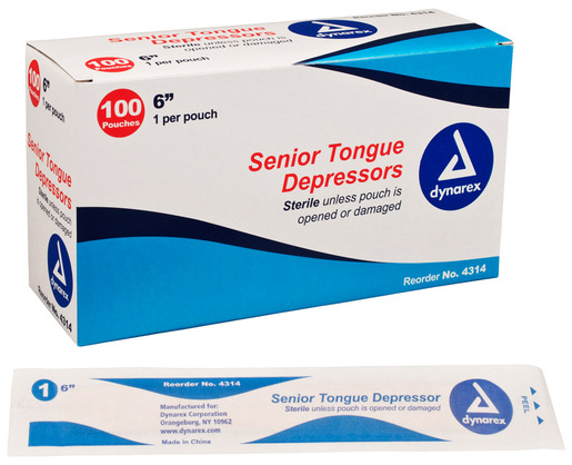 Dynarex<sup>®</sup> Tongue Depressors, Sterile