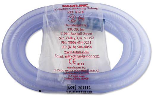 SSCOR 1m Patient Suction Connecting Tubing