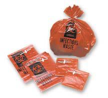 """MDI Biohazard Bags, Safe-T-Seal, 30-33gal, 31"""" x 41"""", Red"""