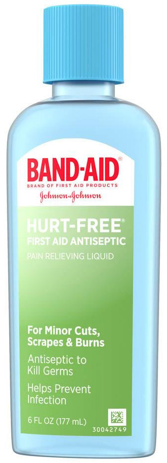 Johnson & Johnson Band-Aid<sup>®</sup> Hurt-free Antiseptic Wash, 6oz Bottle