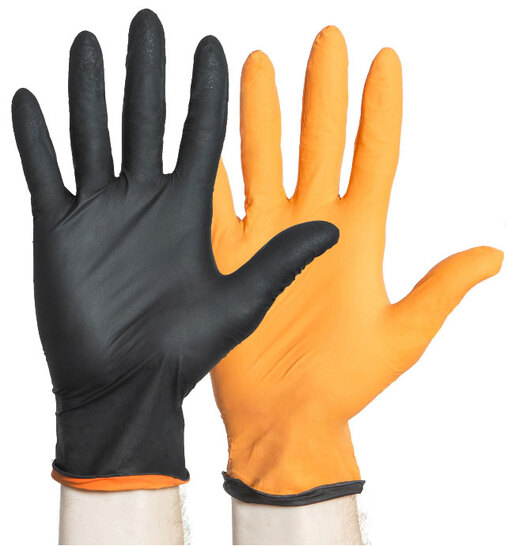 Halyard BLACK-FIRE<sup>®</sup> Powder-free Nitrile Exam Gloves, Large