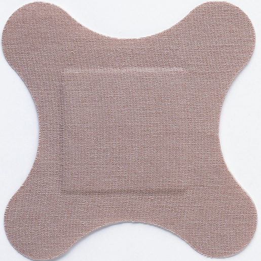 """Flex-Band Fabric Adhesive Bandages, 4-wing, 3"""" x 3"""""""