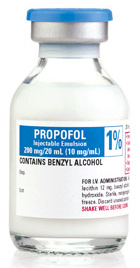 Propofol Injectable Emulsion with Benzyl Alcohol, 1%, 10mg/mL, 20mL Single-dose Vial